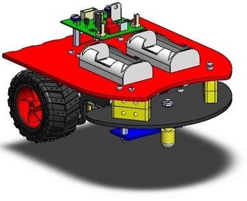تصویری از روبات تعقیب خط 1